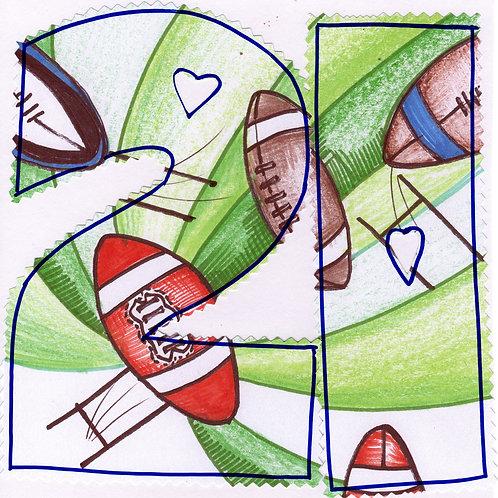 21st Rugby Birthday card