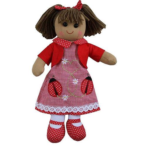 Ladybird Dress Rag Doll