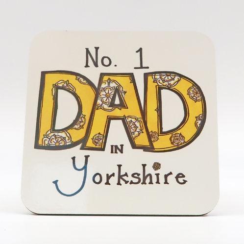 No 1 Dad in Sowerby Bridge Coaster
