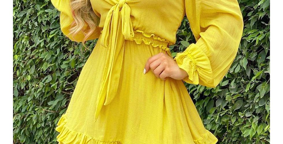 Ruffled Sweetheart Dress