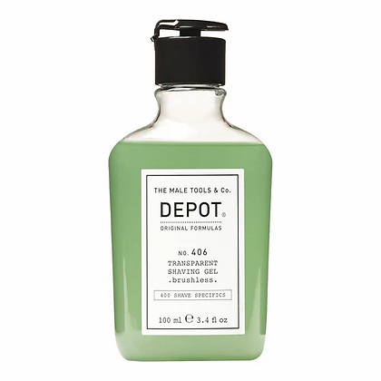 Depot 406.TRANSPARENT SHAVING GEL_brushless
