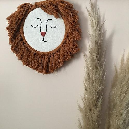 Lion Wall Hanging Macrame Craft Kit