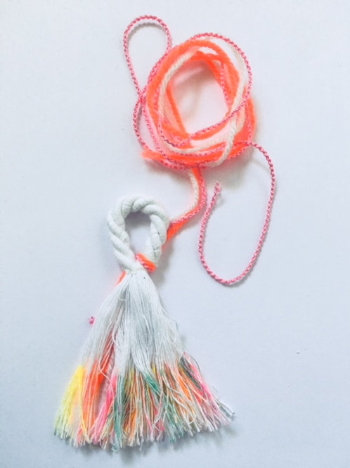 FREE DIY RAINBOW TASSEL - download instructions with code FREE