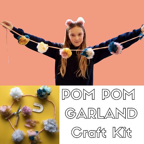 Fluffy Pom Pom Garland Craft Kit