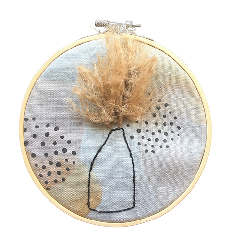Pampas Embroidery Hoop Kit