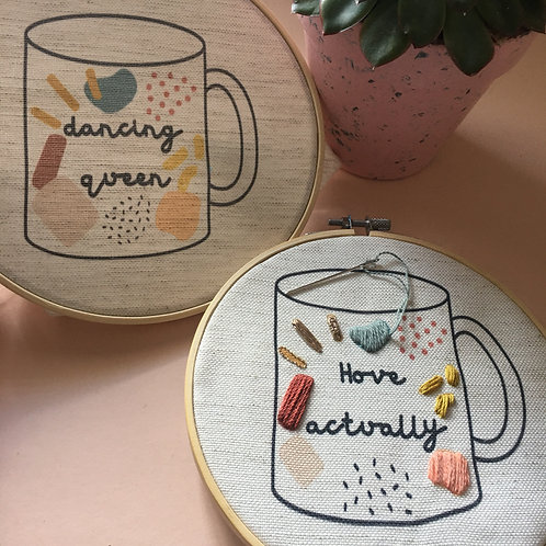 Personalised Slogan Mug Stitch kit