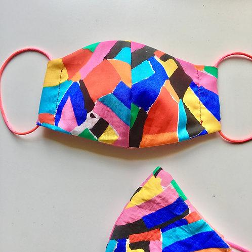 Bright Colourful Handmade Mask