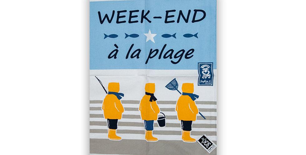 Torchon Week-end à la plage