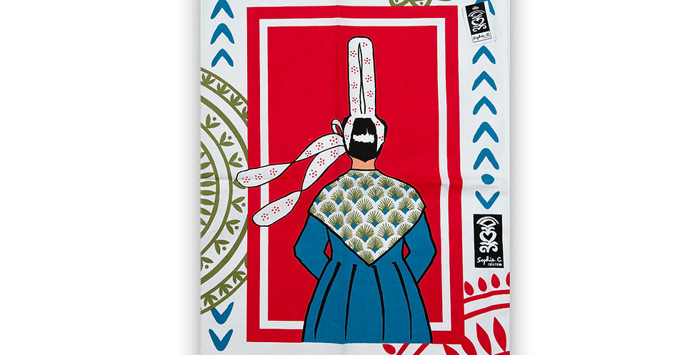 Torchon Bretonne robe bleue
