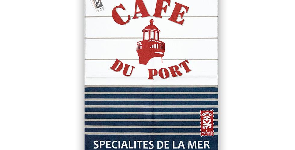 Torchon Rayure café
