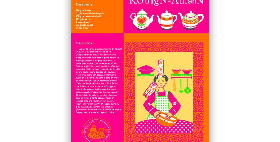 Torchon Recette couleur kouign amann