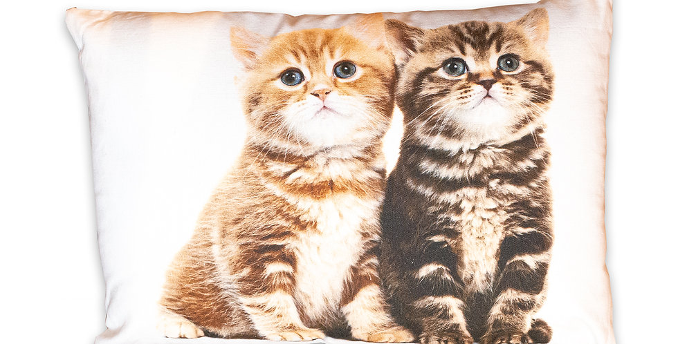 """Coussin rectangulaire  """" 2 chats """""""
