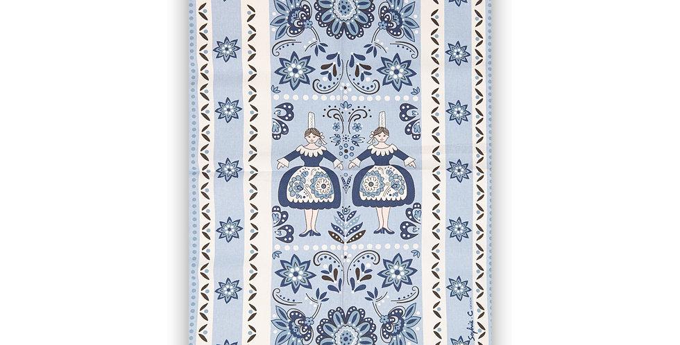 Torchon Bleu jumelles
