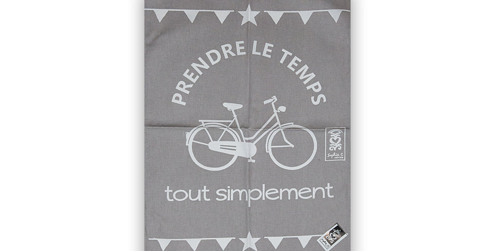 Torchon Vacances vélo beige