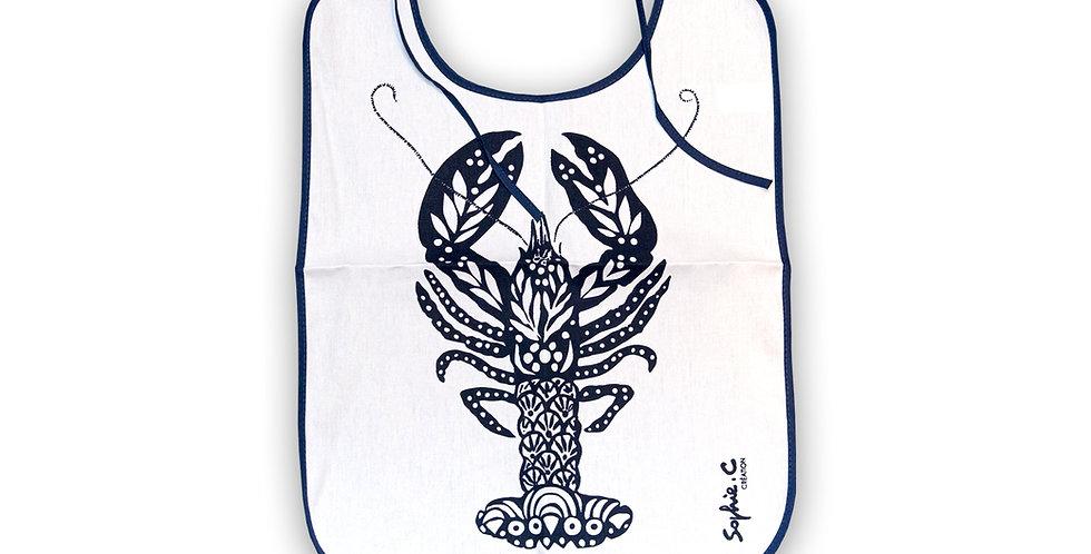 Bavoir Homard bleu marine