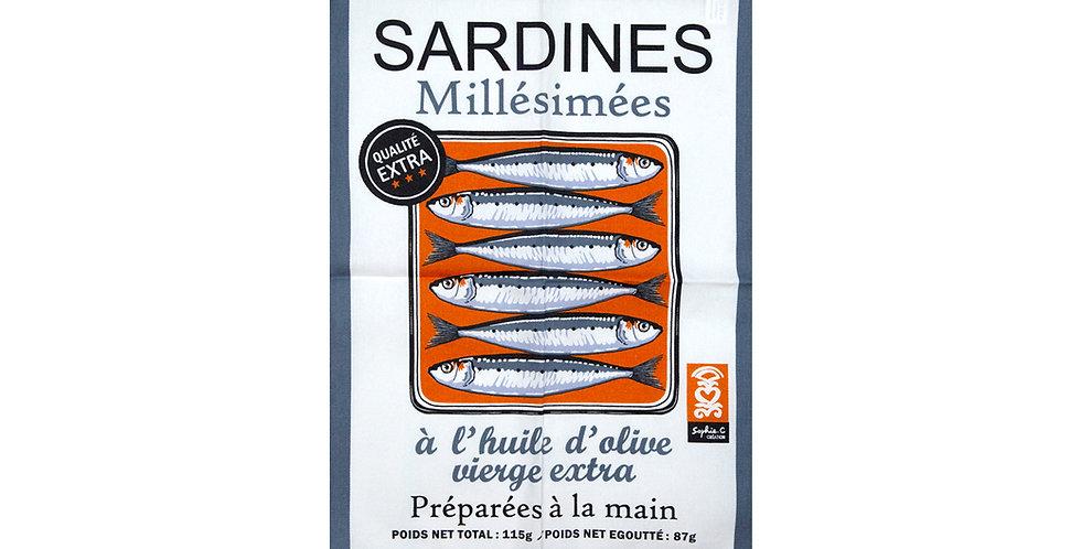Torchon Sardines millésimées