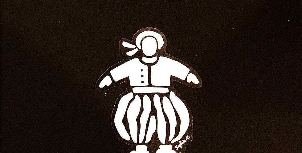 Sticker garçonnet - colori blanc