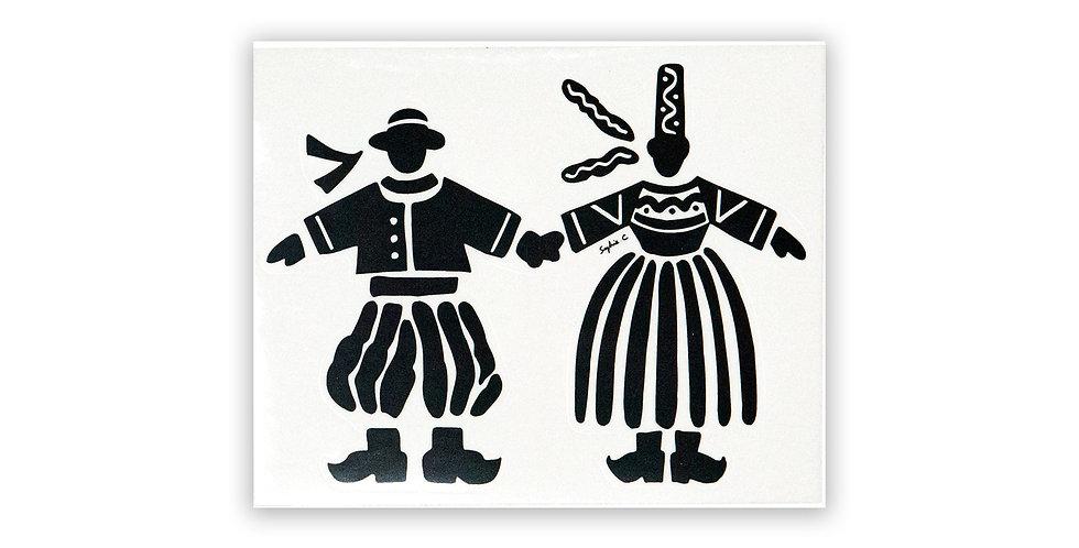 Sticker couple - colori noir