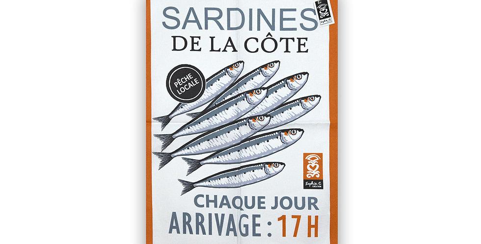 Torchon Sardines de la côte