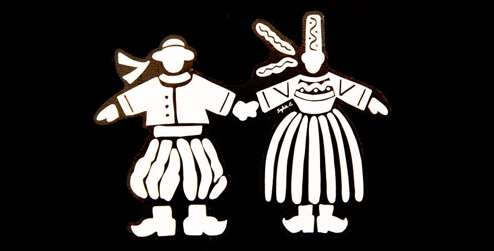 Sticker couple - colori blanc