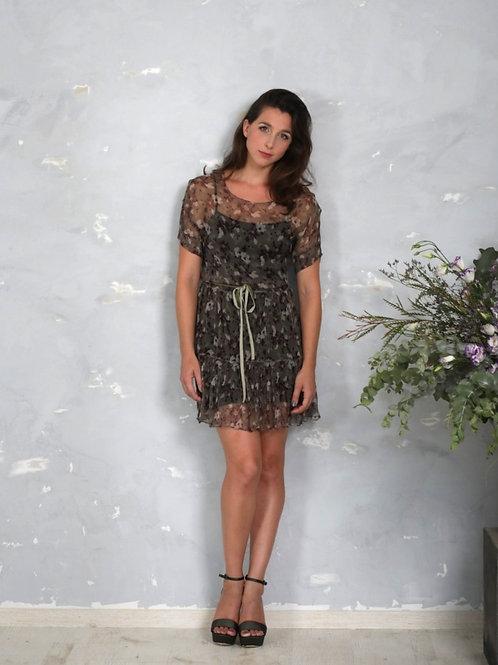 Silk chiffon mini dress