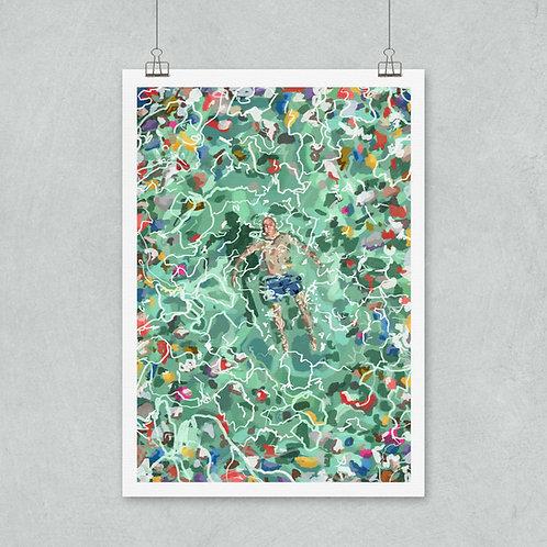 A3, Print World Ocean's Day,  Biotop 300 grams