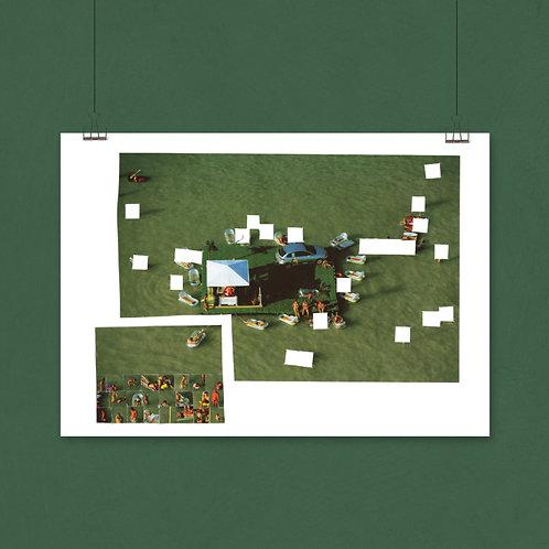 PREMIUM 4/5  A1 print, Hahnemühle German Etching (soort katoenpapier)