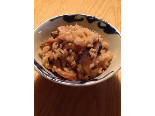 干し椎茸と豚肉の中華おこわ風