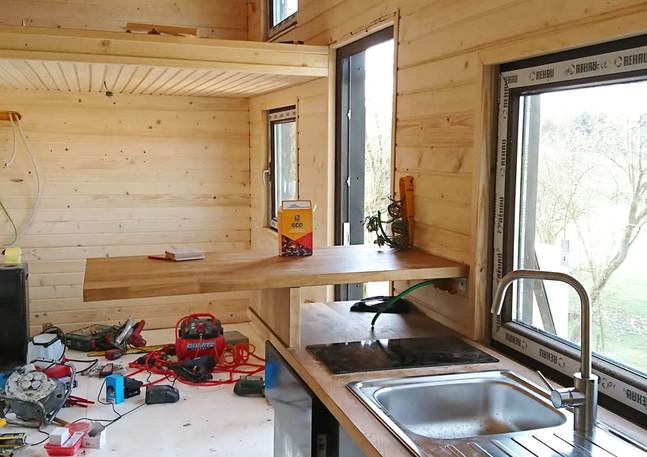 Construction des Tiny Lodges - 2021