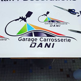 Impression & découpe Garage Carrosserie