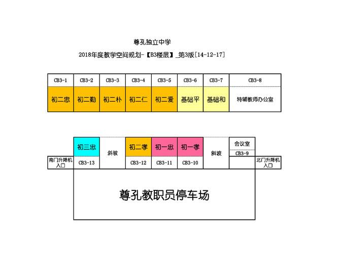 [教务处通告]2018年教学空间规划