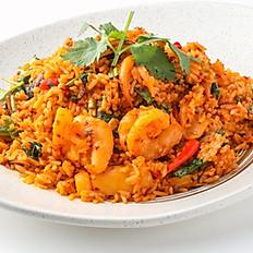 553 Fried Rice w/ Seafood and  Tom Yum