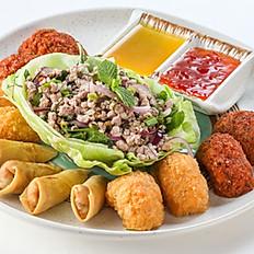 200 Appetizer Platter(Prawn Cake, Fish Cake, Spring Rolls, Minced Pork Salad)