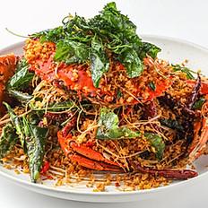 459 Quick Fried Crab w/ Lemongrass, Dried Chili and Garlic