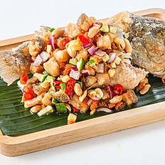 259 Minced Fish Spicy Salad with Thai Herb