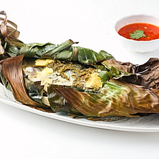 232 Fish Cooked  in Banana Leaves