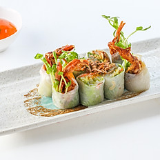 211 Soft-Shell Crab Rice Paper Rolls with Avocado and Mango