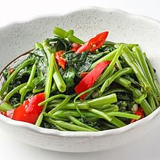 501 Stir-fried Morning Glory with Chili & Garlic