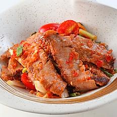 257 Grill Pork Neck Spicy Salad