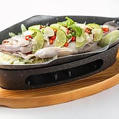 454 Steamed Fish w/ Lemon