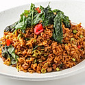 554 Stir-fried Minced Pork with Sweet Basil served with Rice