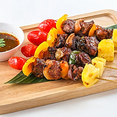 239 Grilled Lamb Skewers for 4