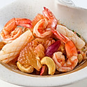 254 Shrimp, Squid and Pomelo Salad with Dry Fish And Cashew Nut