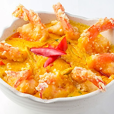 359 Stir-fried Prawn w/ Yellow Curry
