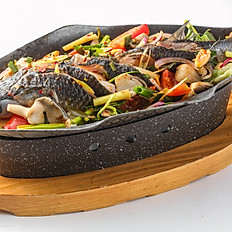 455 Steamed Fish On Stove Tray w/ Lemongrass