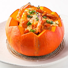 555 Baked Rice in Pumpkin w/ Assorted Seafood