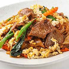 559 Fried Flat Noodle w/ Chicken, Beef or Pork