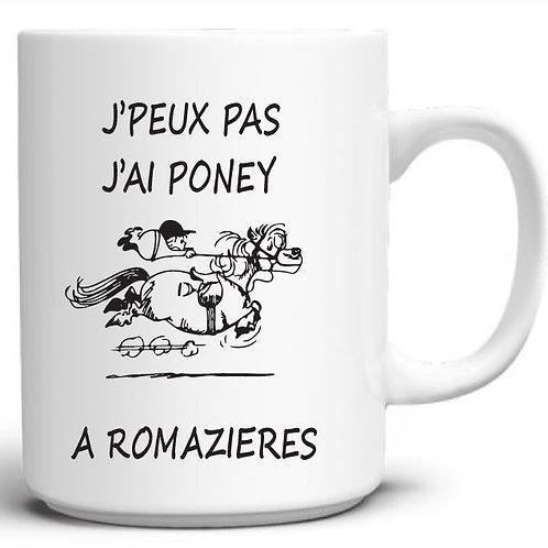 "MUG BLANC ""Romazières """
