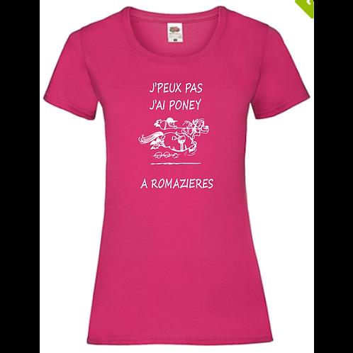 """T-SHIRT FEMME COL ROND  """"Jpp Romazières"""""""