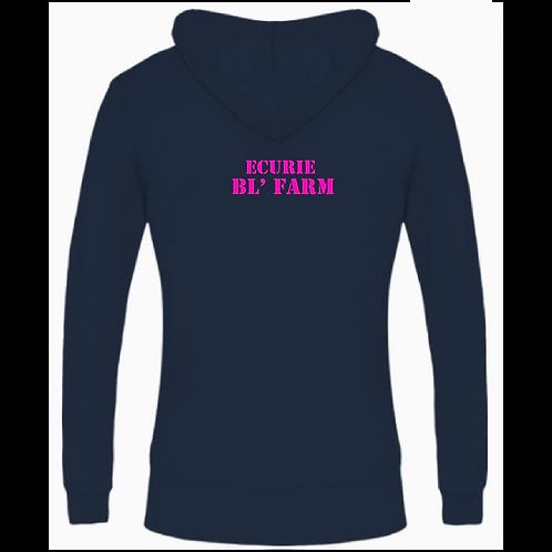 "SWEAT CAPUCHE ZIP FEMME ""BL Farm"""